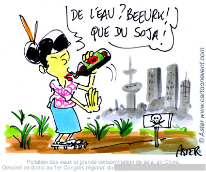 Illustration sur le vif - soja en  Chine