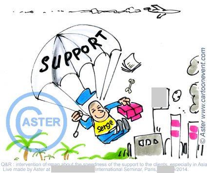 Illustration sur le vif - support segre