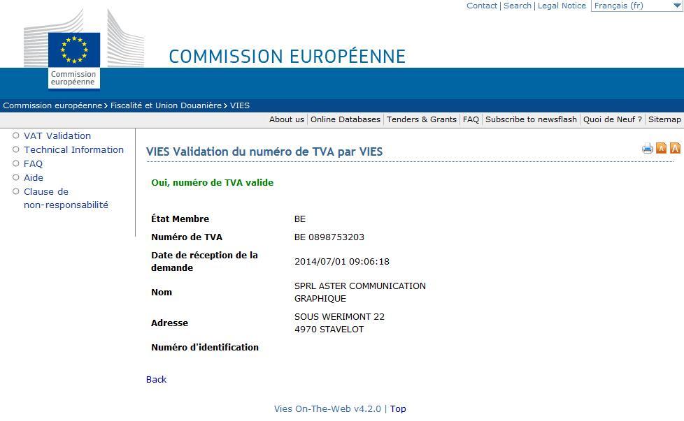 modele facture intracommunautaire belgique